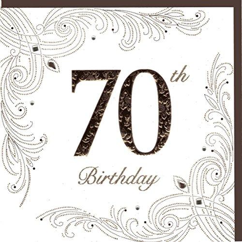 Edle tarjeta felicitación 70cumpleaños Koko Designs