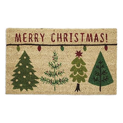DII Indoor/Outdoor Natural Coir Holiday Season Doormat, 18x30, Merry Christmas