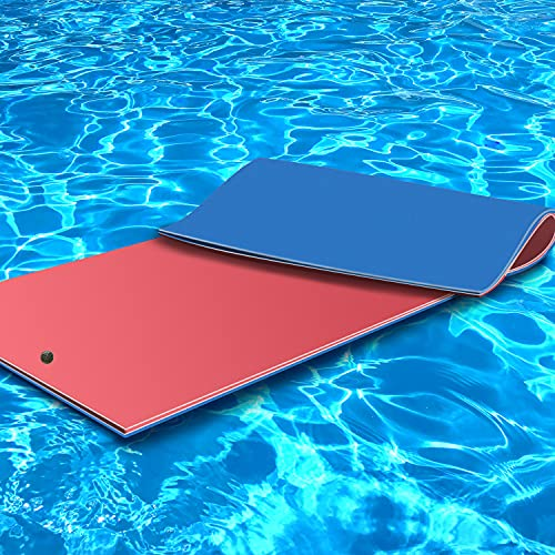 Floating Water Pad for Lake, X&T Large Soft Floating Island with Bungee Tether, 3 Layer...