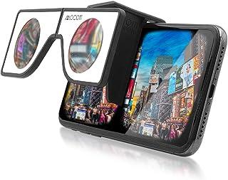 Nabi ミニバーチャルリアリティビューア | 頑丈なポケットサイズのVRヘッドセット トラベルケース付き | 折りたたみ式 ポータブルバーチャルリアリティヘッドセット iPhone & Android用 | どこでも360VRビデオをお楽しみください (ホワイト)