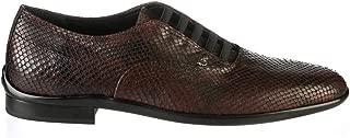 6803 Italian Designer Bordo Piton Leather Fashion Man Shoes