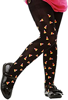 Candy Corn Black Tights | Kids Halloween Costume & Dress Up Stockings