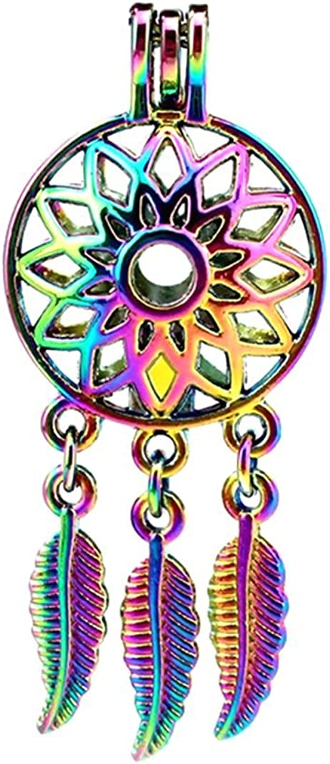10 Pack Rainbow Ranking TOP7 Color Dream Catcher Pearl Floating Limited price Leaf Flower