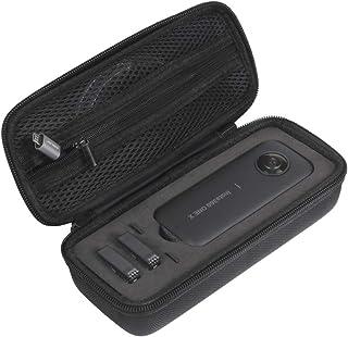 JSVER Estuche portátil para Insta360 One X Bolsa de Almacenamiento de cámara Protectora de Transporte Funda Protectora Compatible con Insta360 One X Accesorioscon Cubierta de Lente de Silicona