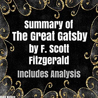Summary of 'The Great Gatsby' by F. Scott Fitzgerald audiobook cover art