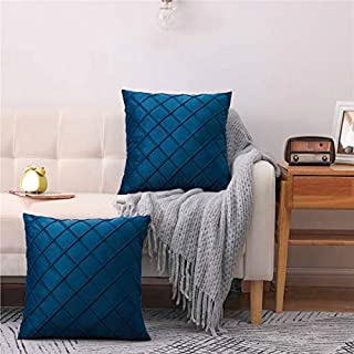 BEBEN Pack of 2 Velet Throw Pillows Sofa Decorative Throw Pillow Covers 18x18 Soft Solid Cushion Case for Bedroom Car Outdoors
