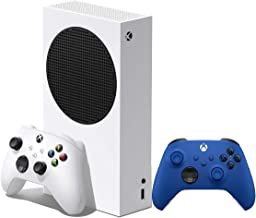 Xbox Series S 512GB White Digital Console With Shock Blue Wireless Controller