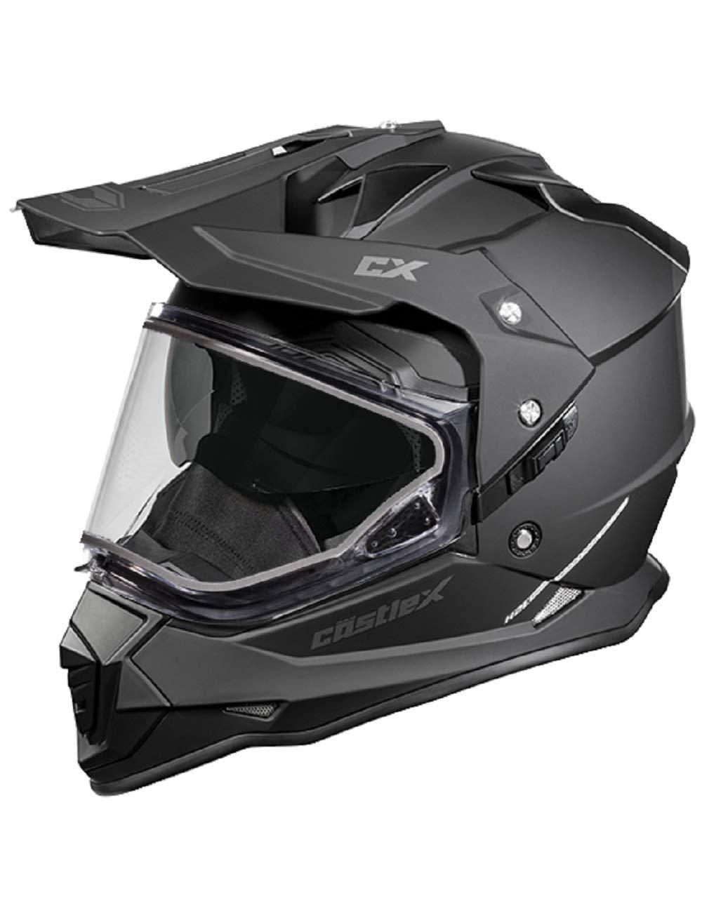Castle Dual Sport Snowmobile Helmet Matte