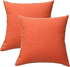DASAN 2 Pack Outdoor Throw Pillow Covers Waterproof Solid Square Decorative Cushion Pillowcases Shell(Cover Only,No Insert...