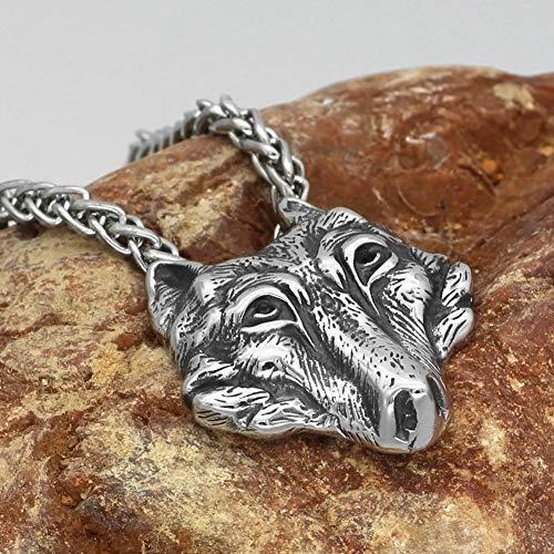 Collar Husky Siberiano Colgante Perro Diseño Animales, Regalo Cumpleaños Hecho Mano Acero...