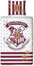 Halantex Harry Potter Juegos De Fundas para Edredón Blanco Y Rojo Escudo Hogwarts School 100% algodón 140x200cm Original Warner Bros
