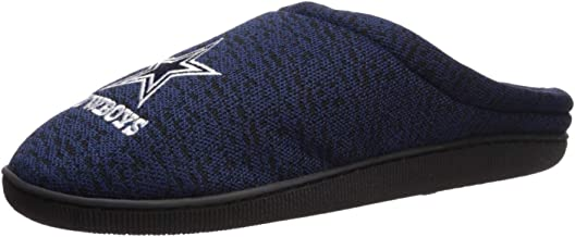 FOCO NFL Mens Poly Knit Cup Sole Slipper