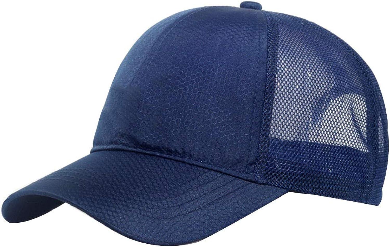 Mesh Baseball Cap Casual Cap Male Breathable Sunhat (color   bluee)