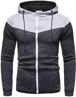 Behkiuoda Men Hood Sweater Coat Long Sleeve Jumper Outwear Casual Top Jacket Blouse Sweatshirt