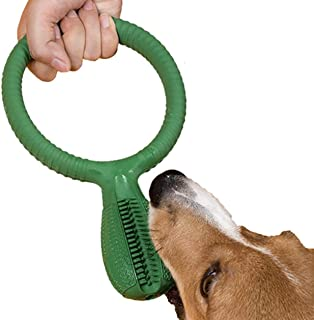 Ollypet Large Dog Toothbrush Chew Toy with Handle Stick Puppy Self Cleaning Teeth Toy Rubber Chew Oral Care