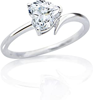 Fadkart Black Plated Valentine Promise Propose Ring Gift for Girls Women