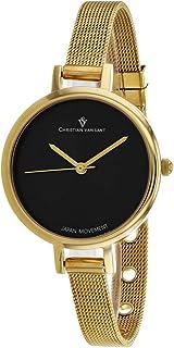 Christian Van Sant Women's Grace Quartz Stainless Steel Strap, Gold, 8 Casual Watch (Model: CV0284)