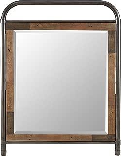 Ink+Ivy Renu Mirror in Metal Frame Reclaimed Pinewood Borders