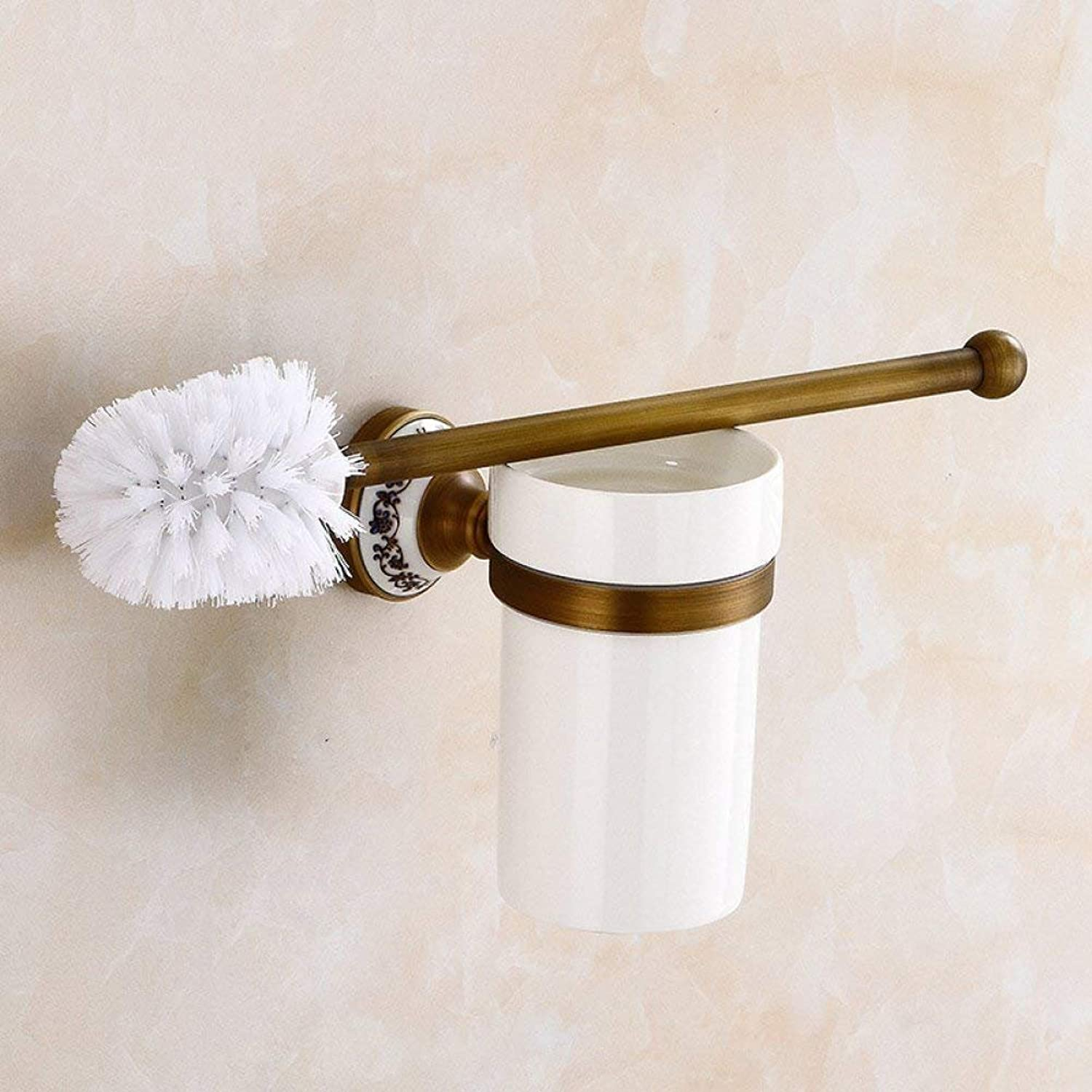 In Porcelain bluee and White and All Former Continental Brush Bronze Wall WC Brush Range WC Bathroom Accessories in Door-Equipment WC Brush