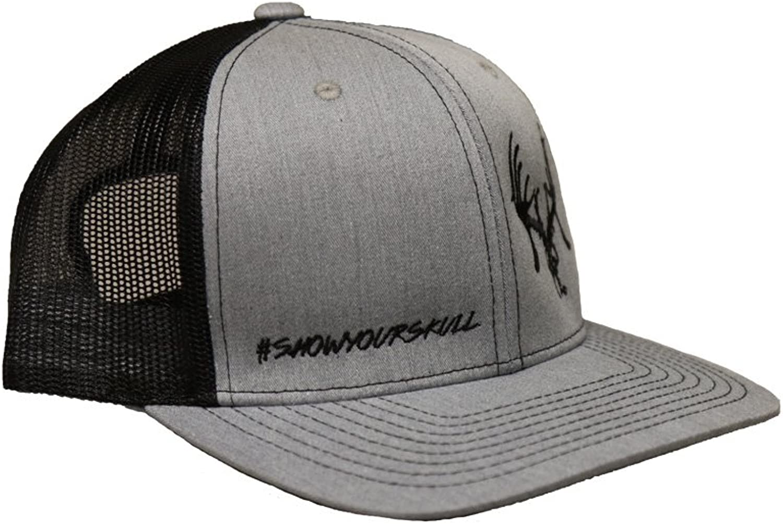 Texas Trophy Hunters Association The Black Skully Mesh Snapback Hat