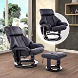 HOMCOM Massagesessel Fernsehsessel Sessel mit Hocker Massage mit Wärmefunktion