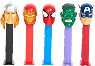 The Marvel Avengers Pez Dispenser with 3 refill candies (Heroes Vary)