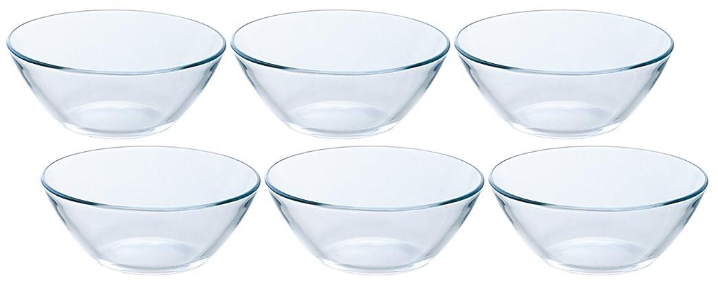 弱いカテゴリー合わせてアデリア ガラス 小鉢 最大12×高4.8cm プレーンボウル 6個セット 日本製 P-1188