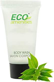 ECO AMENITIES Travel size 0.75oz hotel body wash bulk, Clear, Green Tea, 288 Count