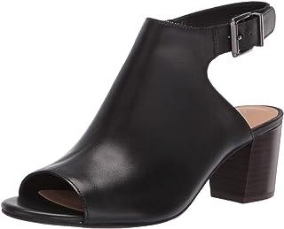 Clarks Deloria Gia Womens Heeled Sandal Black Leather 7 W
