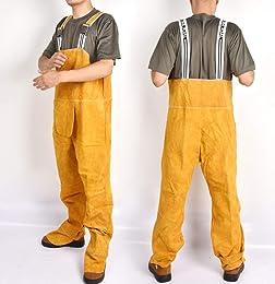 Vêtements Soudage, Pantalon à Bretelles en Cuir De