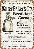 Breakfast Cocoa 金属板ブリキ看板警告サイン注意サイン表示パネル情報サイン金属安全サイン