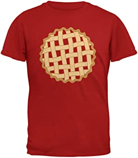 Halloween Lattice Pie Costume Strawberry Cherry Mens Soft T Shirt