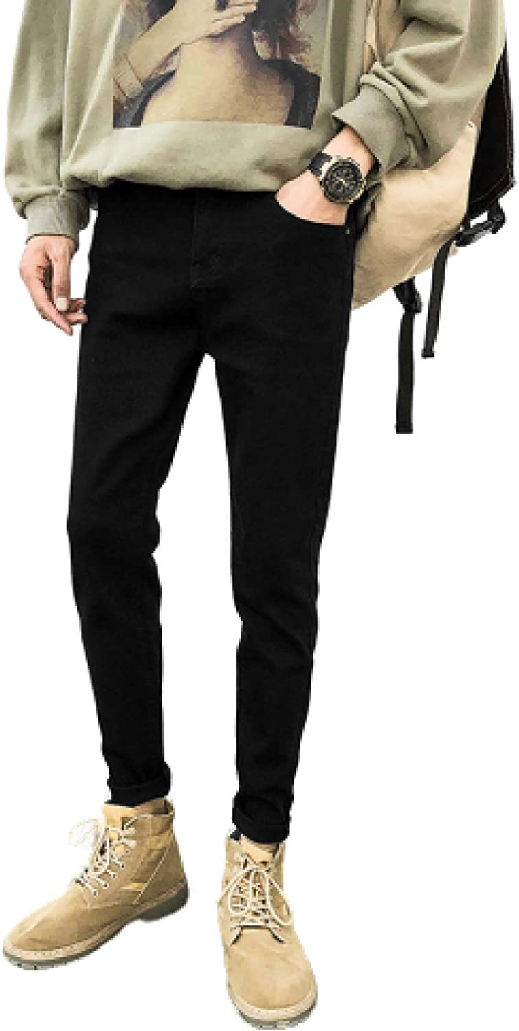 Men's Slim Taper Fit Jean Jeans Spring and Summer Slim Korean Style All-Match