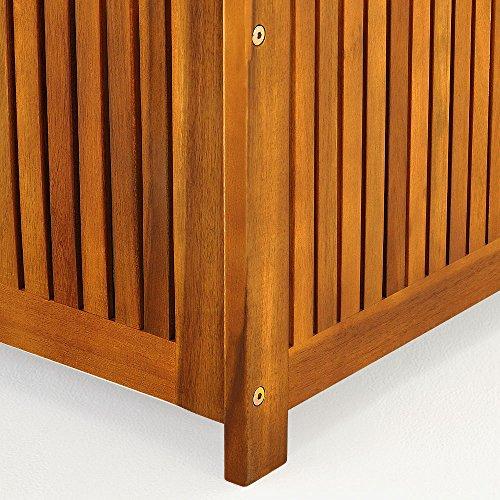 Gartentruhe Auflagenbox mit Innenplane Akazienholz 117cm - 8