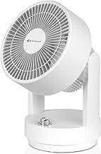 MYCARBON Ventilateur Turbo 35W Oscillation 3 Vitesses Ventilateur à Circulation d'Air Bouton Rotatif 360° Ventilateur de T...
