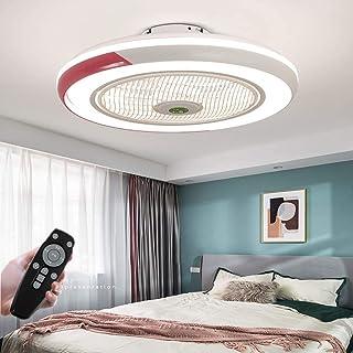 N / A Ventilador Ventilador de Techo con un LED Modernos Ventiladores de Techo con iluminación a una Distancia de 3 Filas del Techo de la Sala Regulables de Velocidad del Viento 58 cm Ambiente