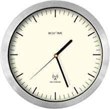 Wolf Time (Lazy Poet) Radio Controlled MSF (UK) Signal Wall Clock