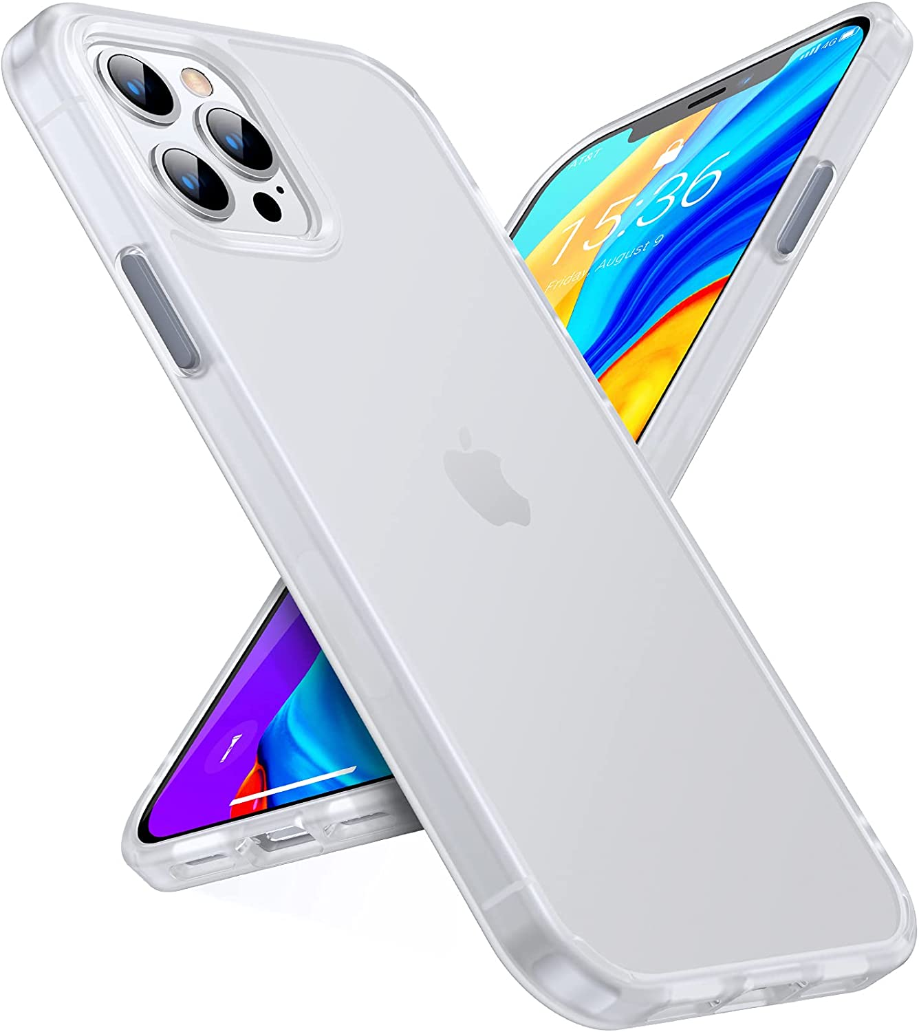 TORRAS Shockproof Compatible for iPhone 12 Pro Max Case 6.7 Inch, [Military Grade Drop Protection], Translucent Matte Case Compatible for iPhone 12 Pro Max Phone Case, [Guardian Series], White