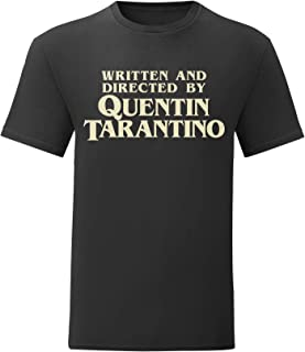 Camiseta Hombre Written and Directed by Quentin Tarantino - T-Shirt Cult Movie 100% algodòn