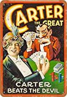 1927 Carter The Great Magician and Satan Metal Retro Wall Decor Tin Signs Bar, Cafe,Home Decoration