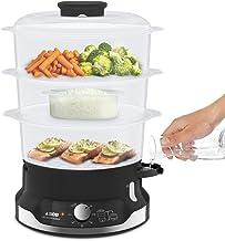 Seb Ultracompact Cuiseur vapeur, Cuisson saine, 9 L, 800 W, 3 bols empilables, Bac à riz et céréales, Minuteur 60 min, Arr...