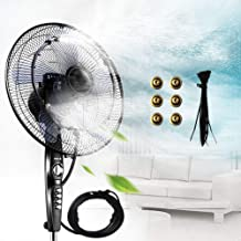 Outdoor Fan Misting Kit, 19.36FT Mist Cooling System, Cool Patios Misting Line and General Brass Adapter Connects to Any Fan Convert Misting for Cooling Outdoor