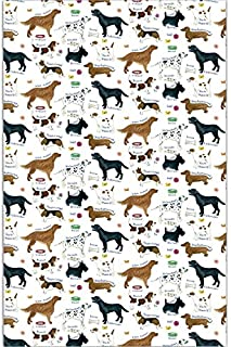 Samuel Lamont Dog Breeds Cotton Tea Towel