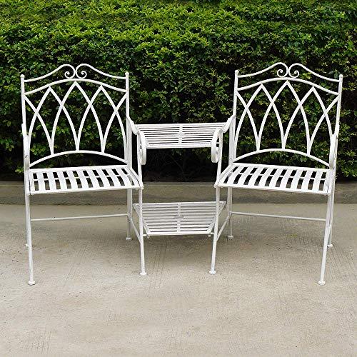Kingfisher Canterbury Cream Love Seat, 52x155x95 cm