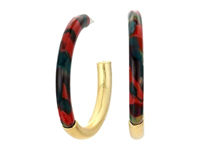 Madewell Acetate and Metal Mix Hoop Earrings (Holiday Multi) Earring