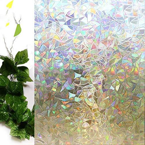 3D frosted kleurpatroon decoratieve raamfolie. Statische zelfklevende glasfolies, glasfolie, warmte-isolatiestickers, 75x200cm