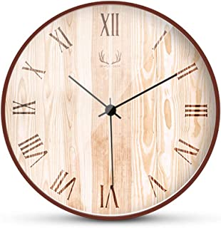 Wall clock 20/29.8 cm battery-operated wall clock, quiet and frameless, with glass-covered wooden frame (Arabic numerals)