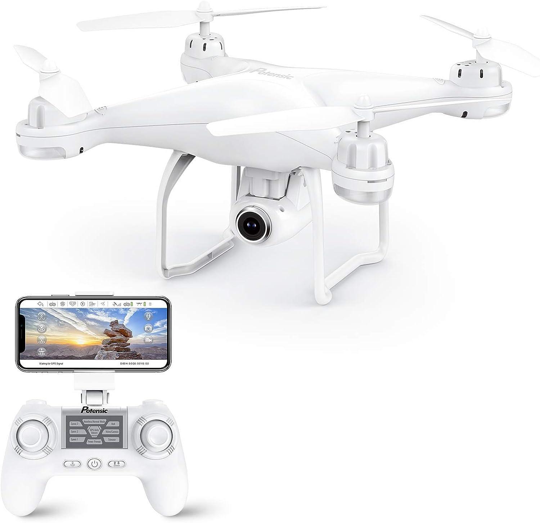 garantía de crédito Potensic Drone GPS, Drone con Cámara Cámara Cámara 1080P HD con Follow Me, 120o Gran Angular, RTF Altitude Hold, Modo Sin Cabeza y Retorno a Casa, T25 blancoo  marca en liquidación de venta