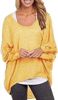 Macondoo Women's Juniors Tee Long Sleeve Knit Sweater Pullover T-Shirt