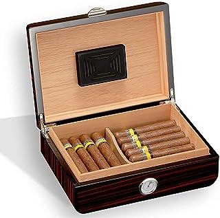 Humidors Cigarrskåp Hushålls cigarrlåda med luftfuktare Cederträ Material kan rymma 35 cigarrer